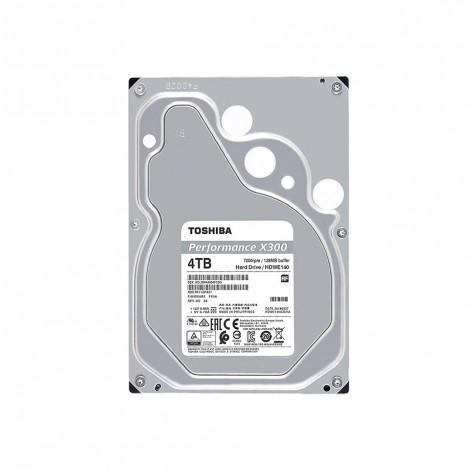 "Toshiba 4TB X300 Surveillance HDD 72RPM SATA-3.5"" HDWE140EZSTA"