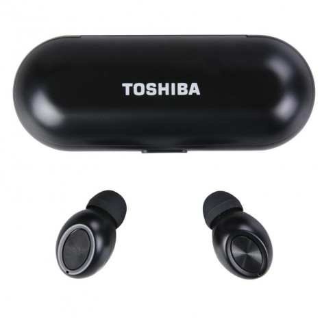 Toshiba Truly Wireless Sweat-Resistant Earbuds with Charging Case