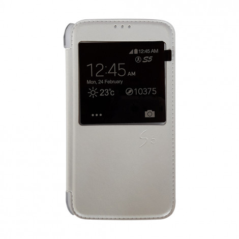 Unique Series S5 S-View Case (White)