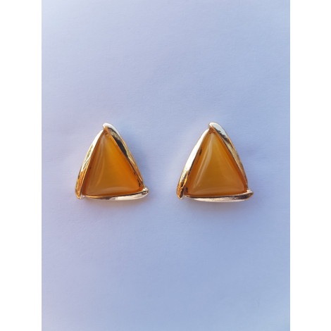 Yellow Triangle Stud Earrings