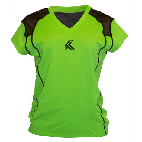 Women's Mesh T shirt(Dark Green)