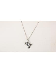 Silver African bushman pendant
