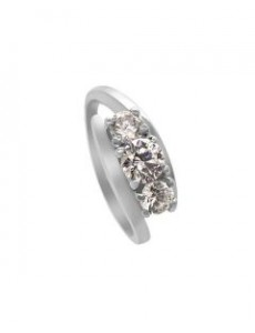 Silver Bypass Ring