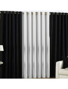Plain Readymade Eyelet Curtains lc012