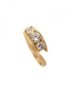 9kt Yellow Gold Trilogy Bypass Ring