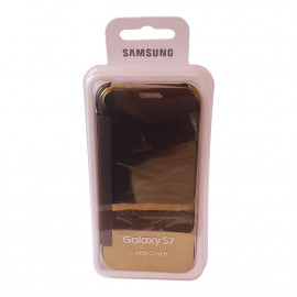 Samsung Galaxy S7 clear view I.C Clear (Gold)
