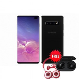 Samsung Galaxy S10 Plus 128GB(Prism Black) with Free Samsung Buds & Soccer Headphone Worth K1650