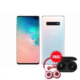 Samsung Galaxy S10 Plus 128 GB (Prism White) with Free Samsung Buds & Soccer Headphone Worth ZMW 1650