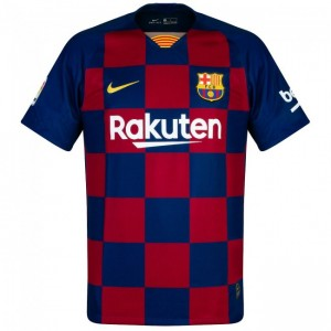 Replica Barcelona Jersey (Blue and Maroon)