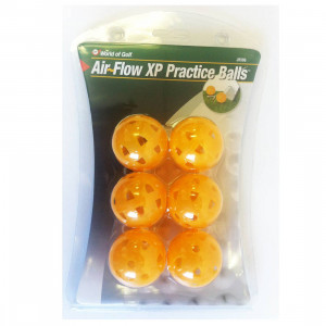 World Of Golf Air Flow XP Practice Balls Yellow (JR566)