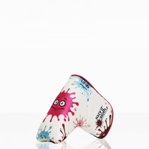 Lazy Sloth Pink Splashes Putter Cover