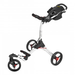 Bag Boy Triswivel 3 Wheeler Cart (White/Red)