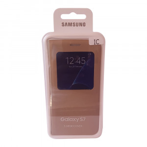 Samsung galaxy S7 I.C smart flip case (Gold)