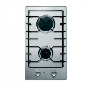 Whirlpool 30CM 2Plate Gas on stainless steel hob AKT 301 IX