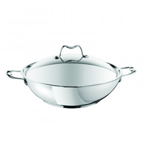Tefal wok 32cm + Lid S.STEEL two side handle