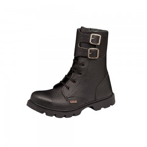 Zamshu Short combat lace up  & buckle safety boots 3408