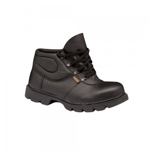 Zamshu Leather Printed Ankle Safety boots 3413
