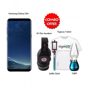 Samsung Galaxy S8 64GB (Midnight Black) With Dr Dre headset, T-Shirt, Light & Selfie Stick