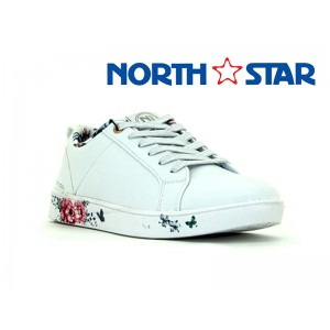 BATA LADIES  NORTH STAR CANVAS BELLA WHITE