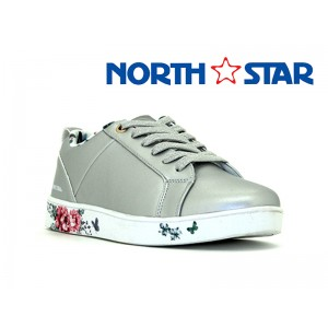 BATA LADIES NORTH STAR CANVAS BELLA GREY