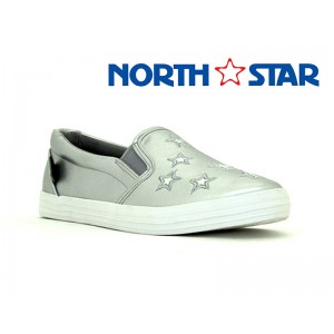 BATA LADIES CANVAS NORTH STAR ROYAL GREY