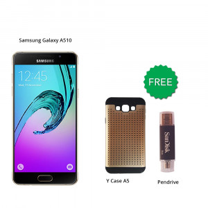 Samsung Galaxy A510 16 GB (Black) With Free Y Case A5 + Pendrive (Sandisk)