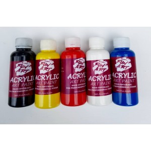 Acrylic Art Paint SET OF 5 100mls