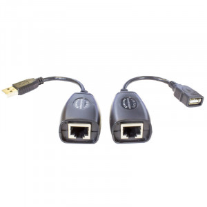 Adaptor - RJ45 Over Cat5E / Cat6E USB Extender