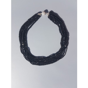 Seed Beads Tassel necklace (Black)
