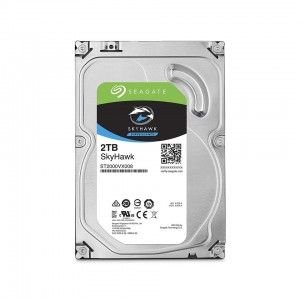SEAGATE SkyHawk 2TB Surveillance Hard Drive - SATA 6Gb/s 64MB Cache 3.5-Inch Internal Drive (ST2000VX008), Silver