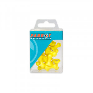 Parrot Magnet Map Pins 25 Box, Size 16mm (Yellow)