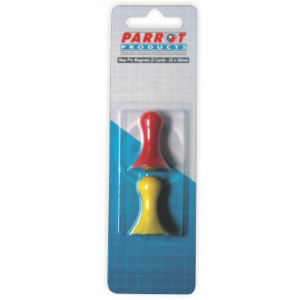 Parrot Magnetic Map Pins (2 Per Card - Assorted, Size: 36mm)