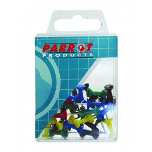 Parrot Push Pins (Boxed Pack, 30 Assorted)
