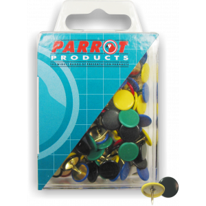 Parrot Drawing Pins (Boxed Pack 100 Assorted)