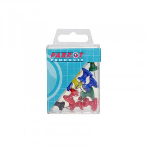 Parrot Giant Push Pins (Boxed 15 Assorted)