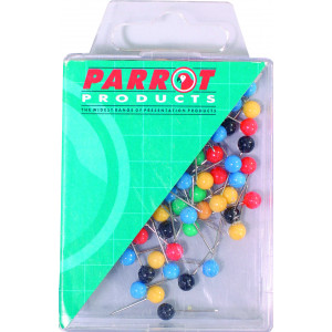 Parrot Map Pins (Boxed 100 Assorted)