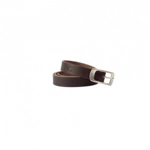 John Buck - Ladies Leather Belt Dark Brown