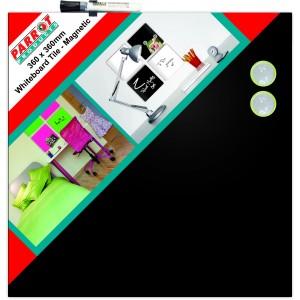 Parrot Whiteboard Magnetic Tiles 360*360mm (Black)