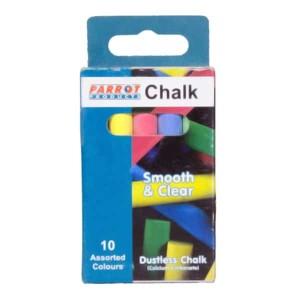 Parrot Chalk Dustless Box 10 Assorted