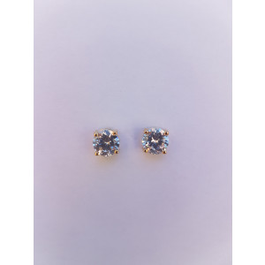 White Elegant Crown Shaped Studs Earrings