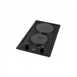 DEFY Domino BLACK Solid Hob DHD 400 SOLID 2 PLATE