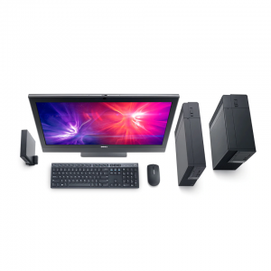DELL OptiPlex 7050 Micro with Intel Unite i7-7700 /4GB / 1TB / DOSs+Dell E1916H 19-inch LED Monitor