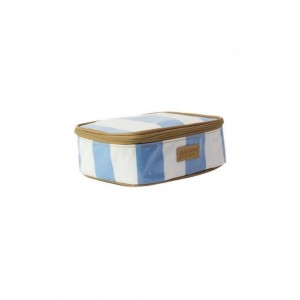Emily Louise Alex Lunch Bag - Blue Stripes & White