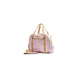 JOHN BUCK EMILY LOUISE DAMASK NAPPY BAG - PINK