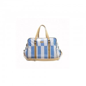JOHN BUCK EMILY LOUISE STRIPE TODDLERS BAG - BLUE AND WHITE