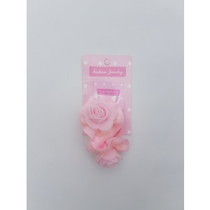 Rose Flower Elastic Hair Band (Pink)