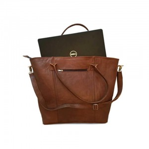 Mirelle Genuine Leather Extra Large Tote/Laptop Bag
