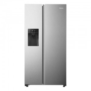 Hisense H690SS-IDL 489L Stainless steel Side by Side refrigerator with non-plumbing ice d