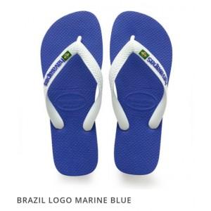 Havaianas Brazil Logo FC Marine Blue White (Size 4-12)