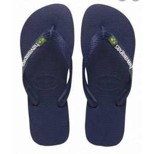 Havaianas Brazil Logo FC   Blue / White (Size 4-12)